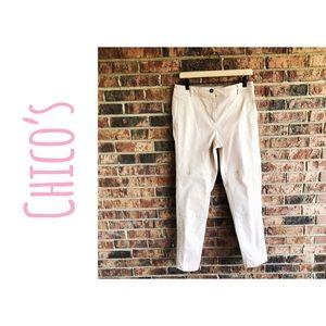 {CHICOS} NWOT Pale Blush Straight Leg Cargo Pants
